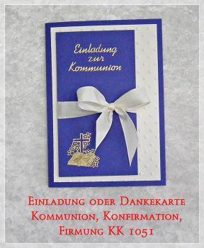 danksagung, einladung konfirmation, kommunion oder firmung, 1051, Einladung