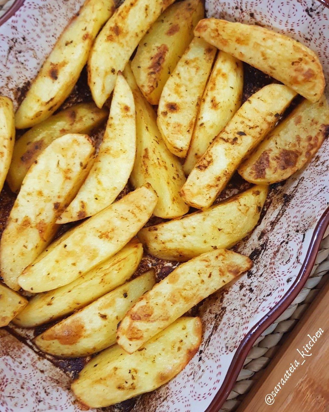 Wedges Potato Potatoes Food Banana