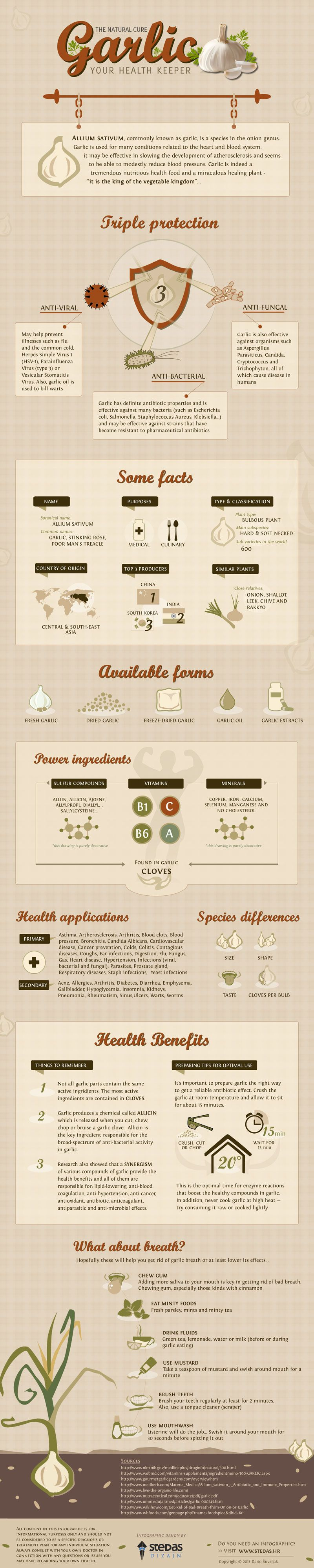 This infographic reveals some surprising facts about garlic    #survivallife www.survivallife.com