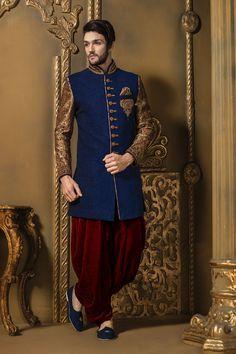 Groom's-stylish-wedding sherwani-designer