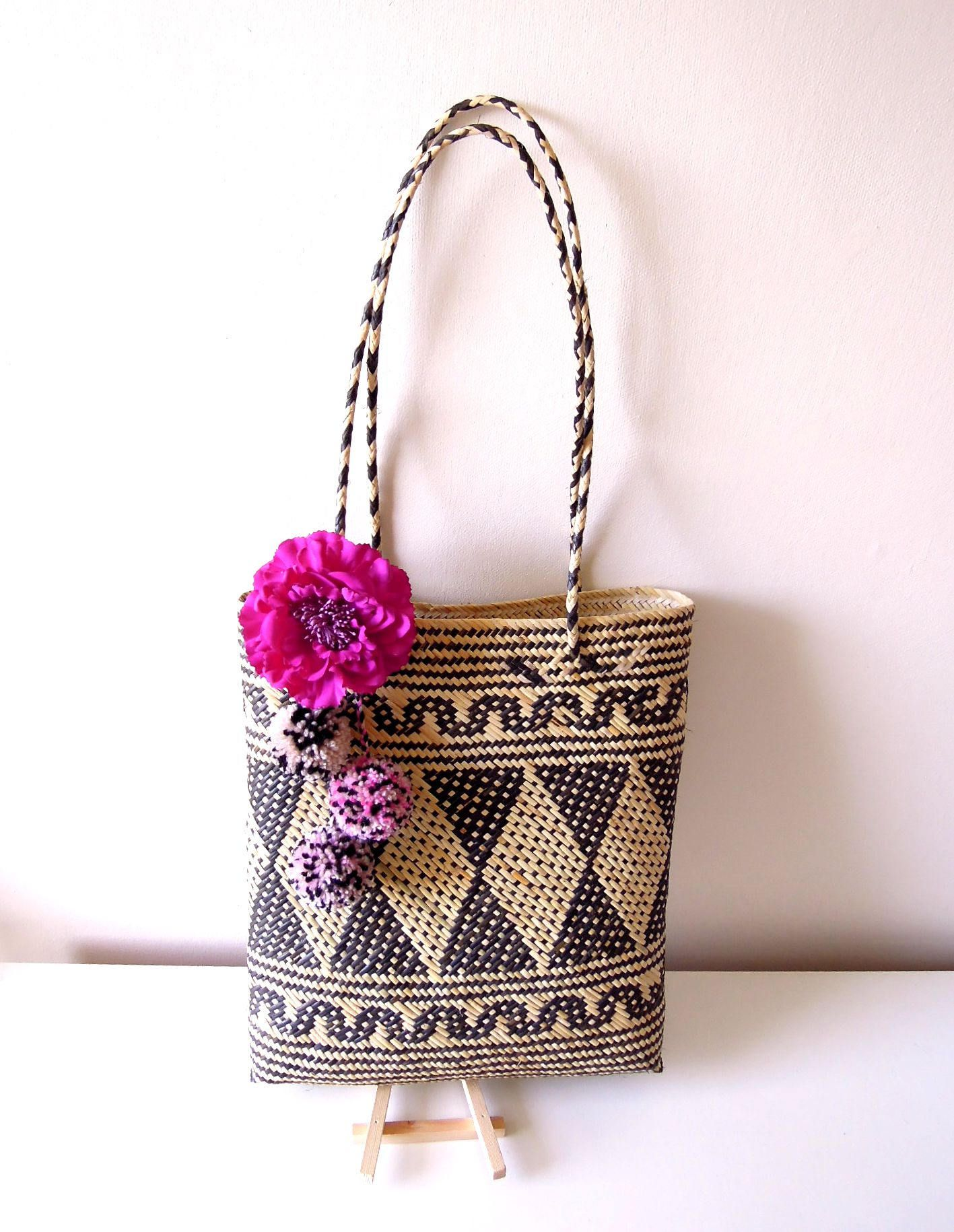 Boho summer bag – Borneo handwoven artisan bag - Tribal handbag ...