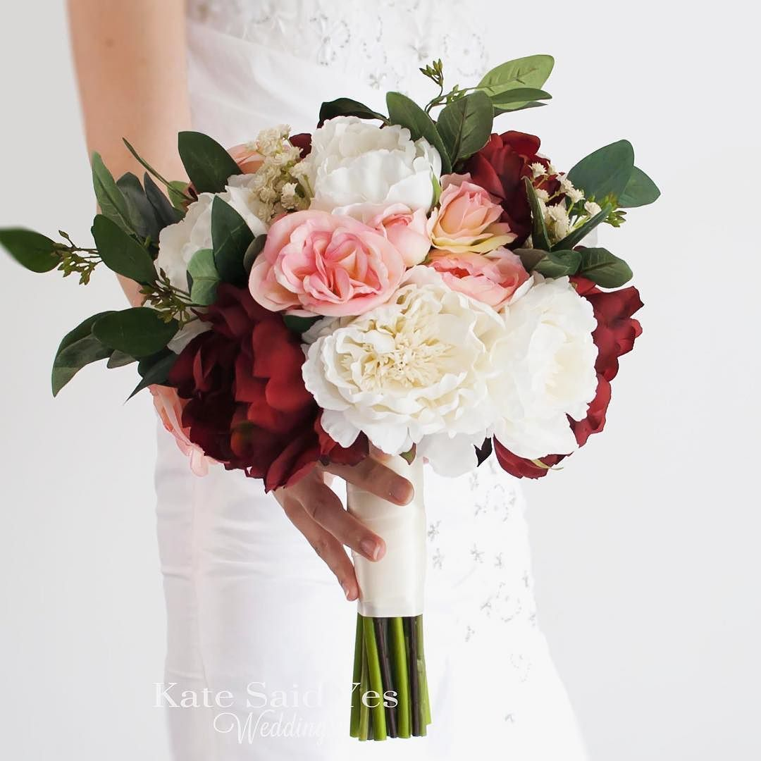 Make Silk Wedding Flowers: Peonies Roses And Greenery Make A Stunning And Rustic