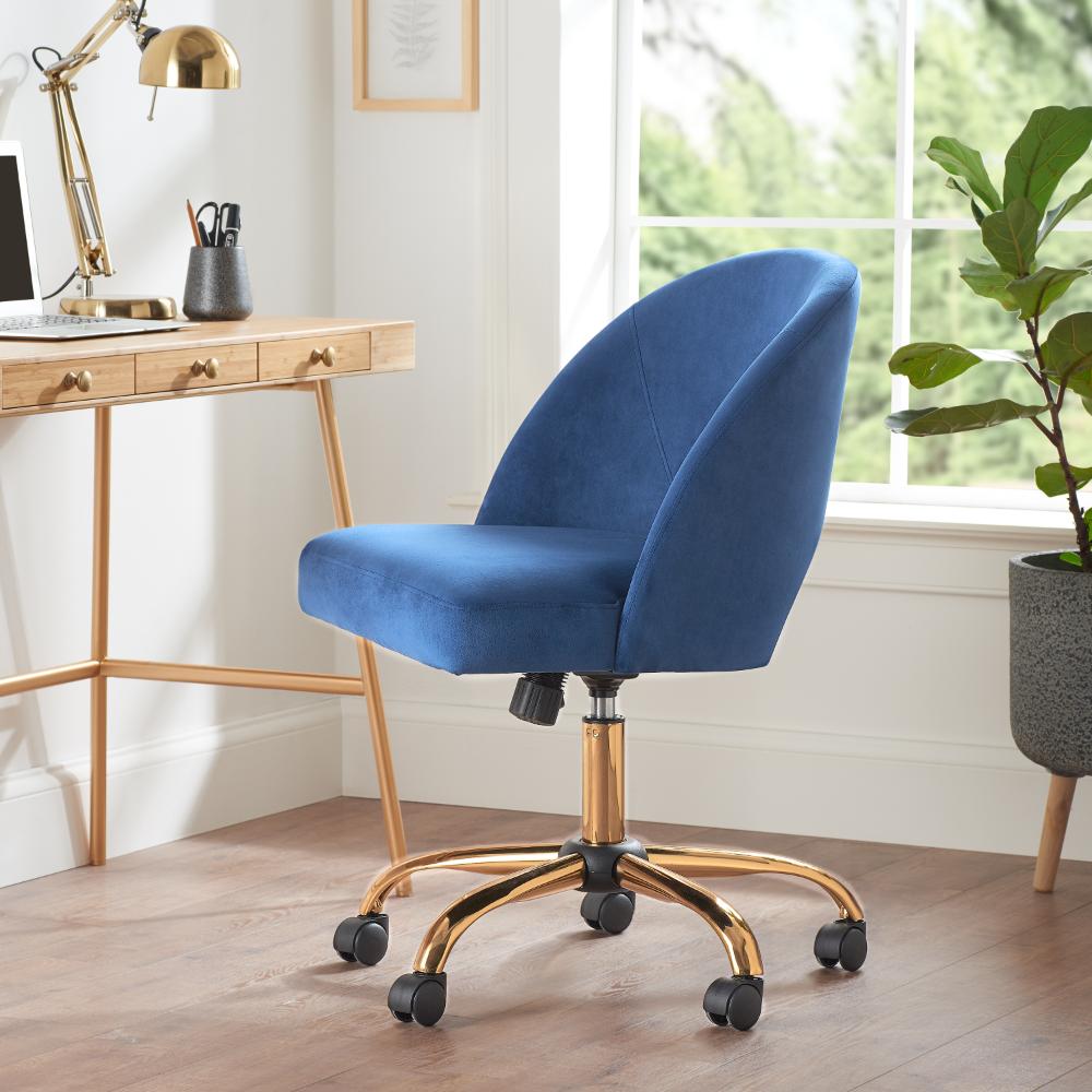 Better Homes Gardens Velvet Office Desk Chair Multiple Colors Walmart Com Pink Desk Chair Office Desk Chair Office Chair Design