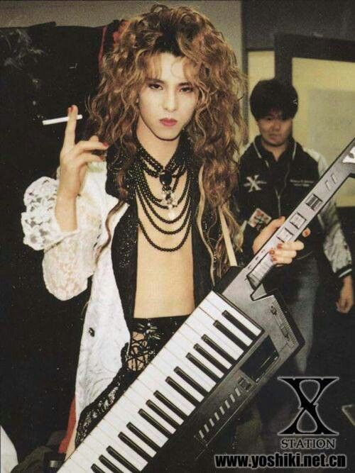 Yoshiki X Japan Visual Kei Long Hair Styles Men Celebrities