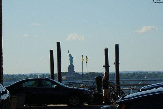 A view of the Statue Of Liberty from Brooklyn......