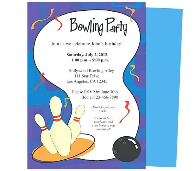 Ten pin bowling party invitations Invitation Ideas in 2019
