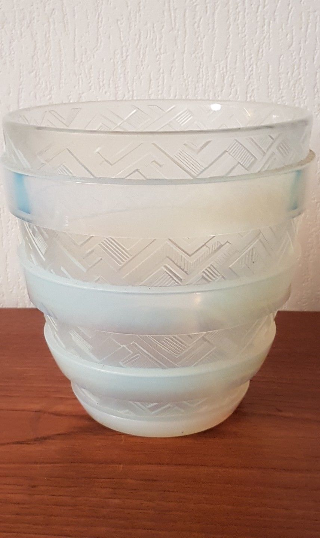 vase art deco en verre opalescent sign cesari france en parfait tat ann es 30 c ramiques. Black Bedroom Furniture Sets. Home Design Ideas