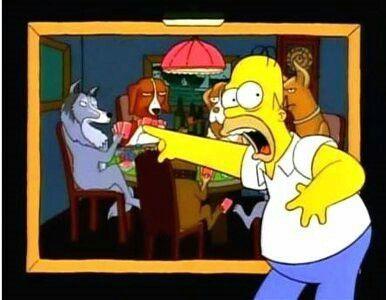 Son Perros Y Estan Jugando Poker Simpsons Pinterest The