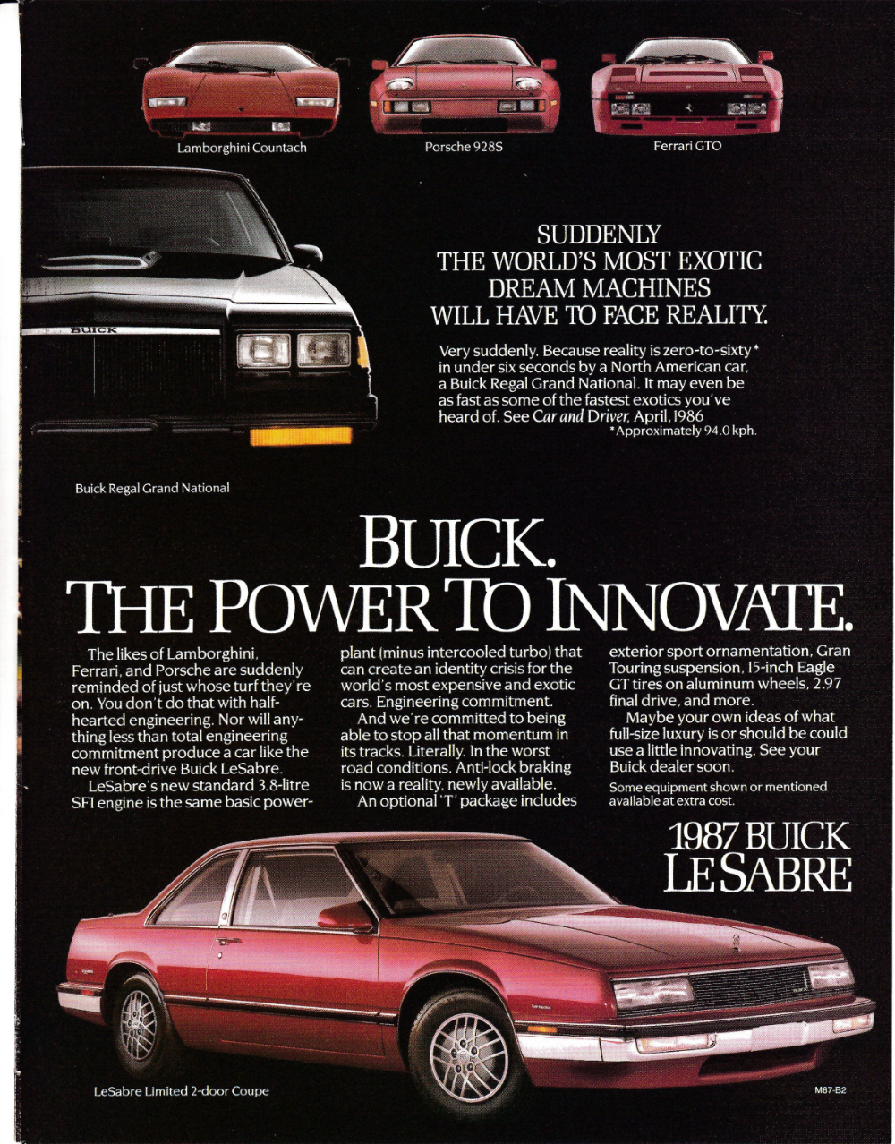 1987 Buick Le Sabre Limited 2 Door Coupe 3 8 Liter Original Etsy Buick Coupe Car Ads