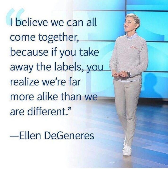 Only word needed... Ellen … | Ellen degeneres quotes ...