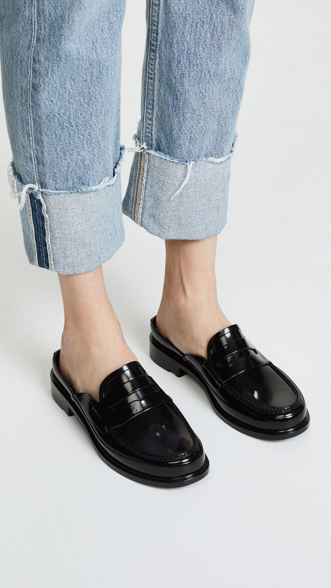 cdbf52cca Backless Gloss Penny Loafers in 2019 | BUY | Penny loafers, Hunter ...