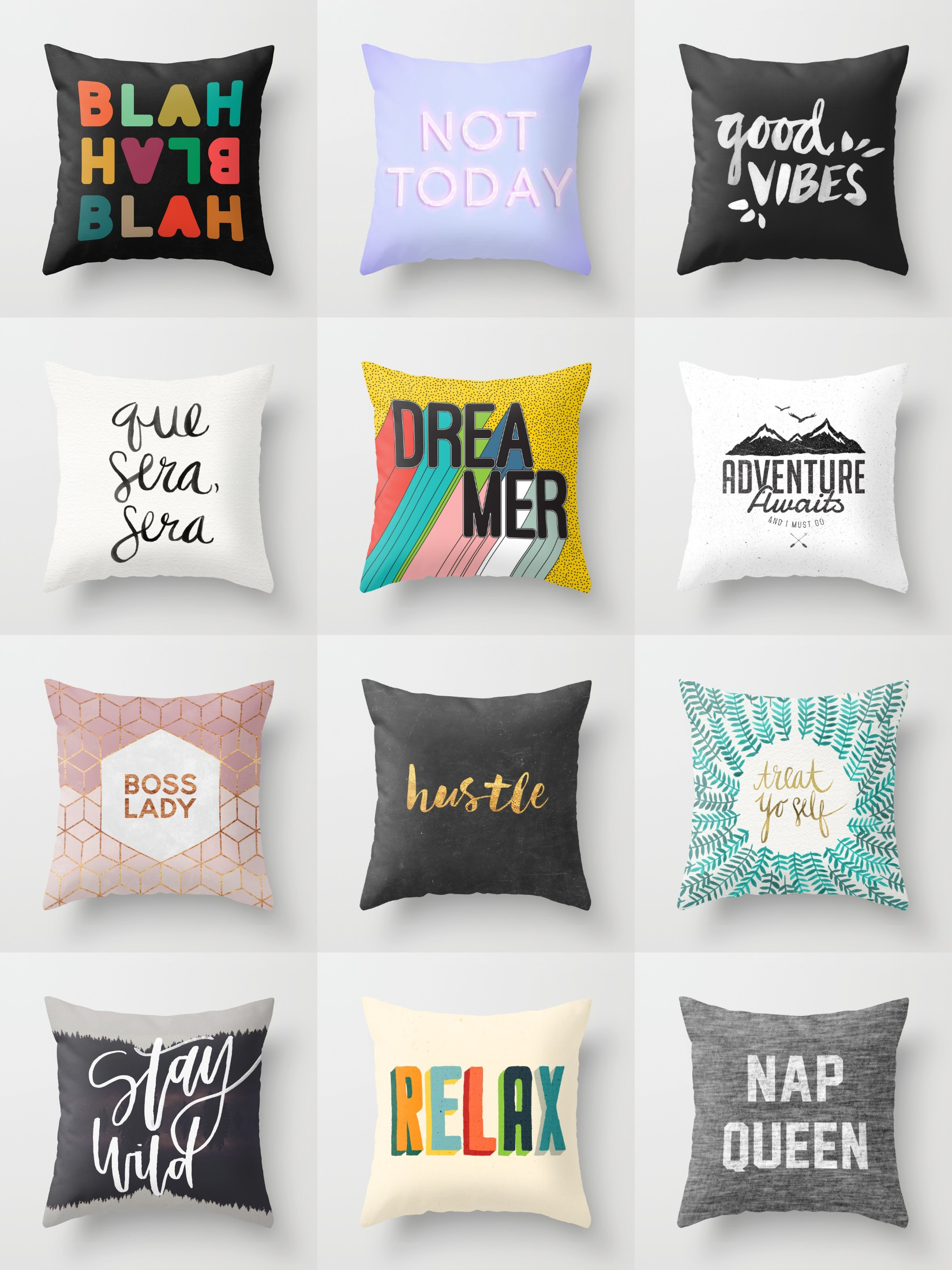 Shop unique and original throw pillows on Society6 ...