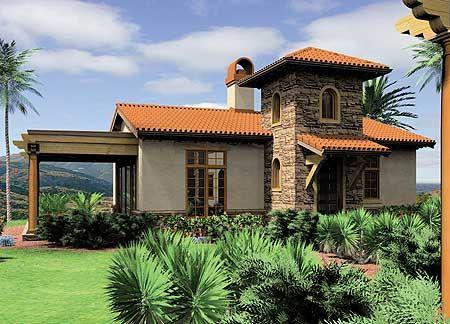 Plan 69124am Mediterranean Guest Home Plan Or Vacation Retreat