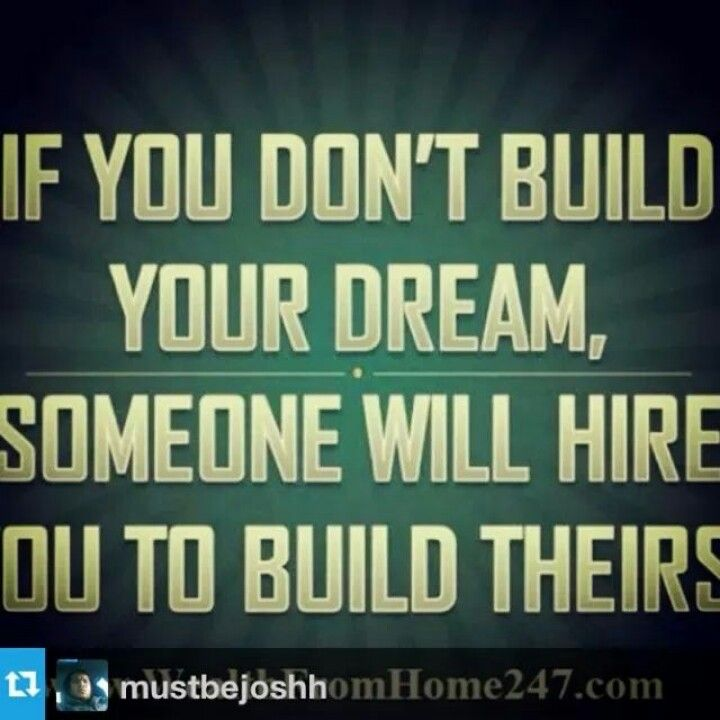 Build someone else dreams dreaming of you words