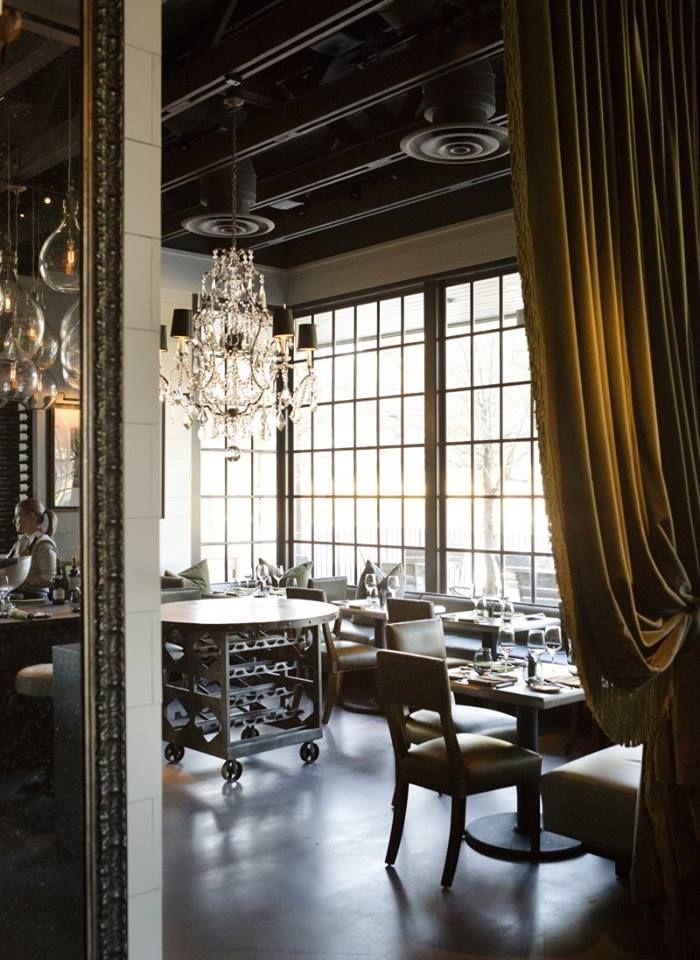 LaV. Austin, Texas. Restaurant interior, Restaurant
