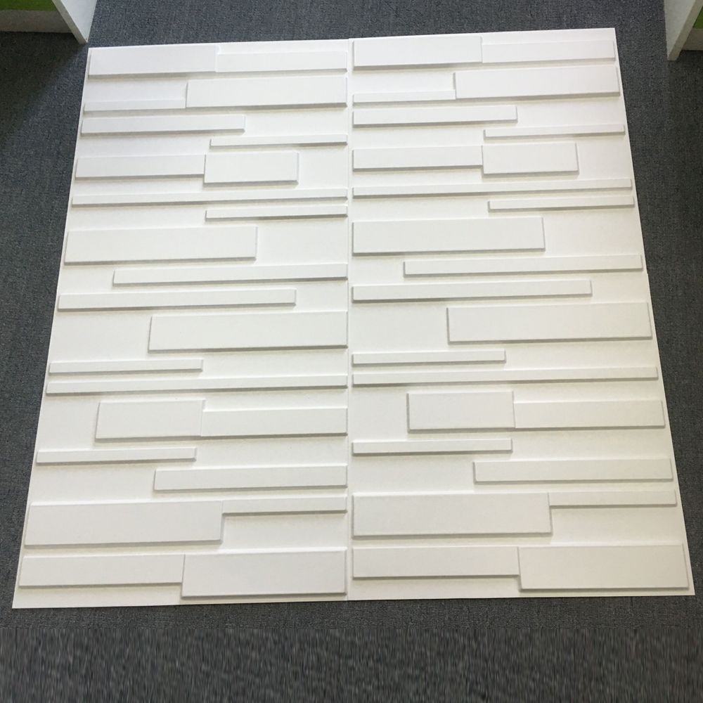 Decorative Pvc White Brick Design 3d Wall Panels 12 Tiles 32 Sf Vinyl Wall Panels Wall Paneling Wallpaper Panels