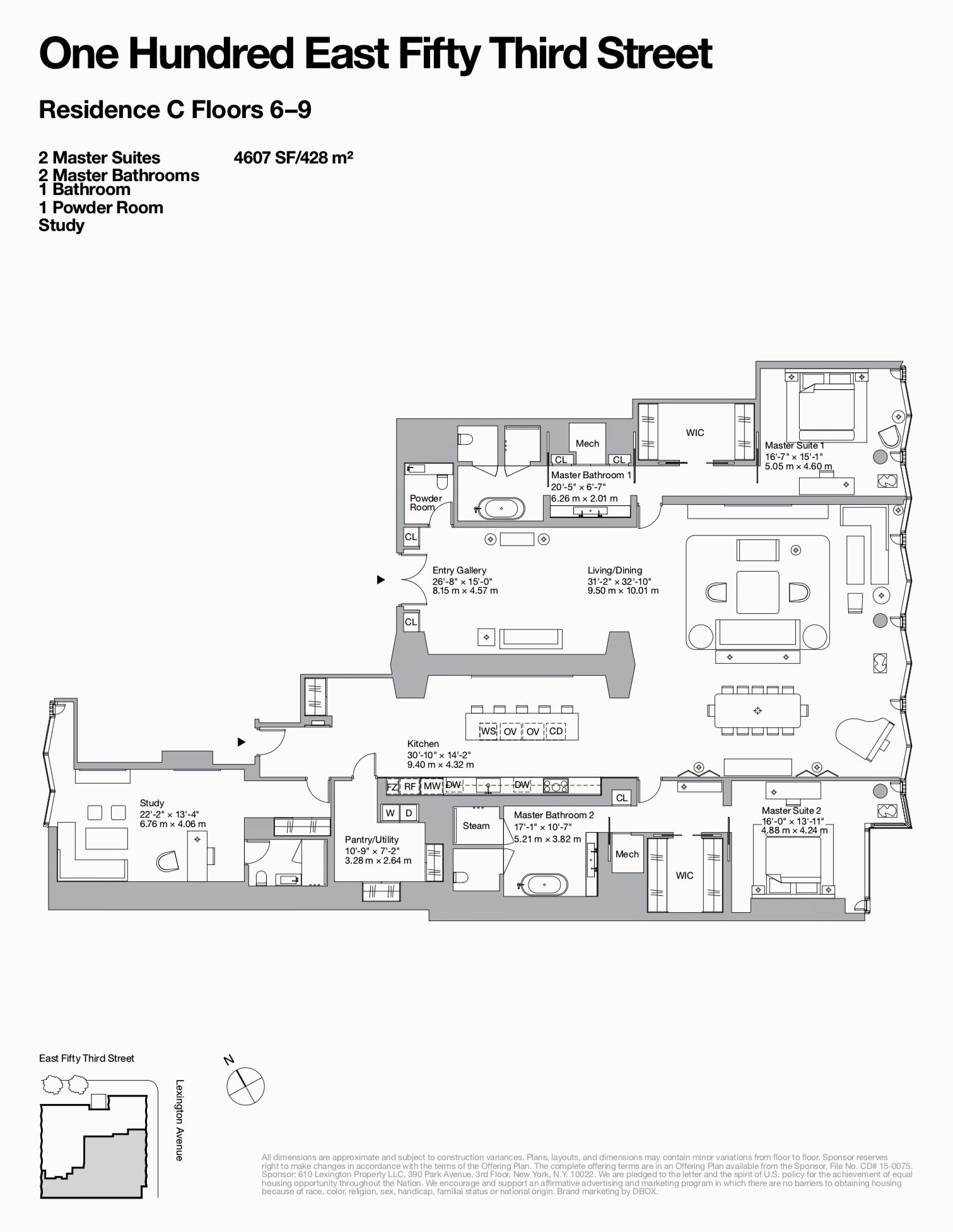 100 East 53 Street Residence 6c Kiến Truc