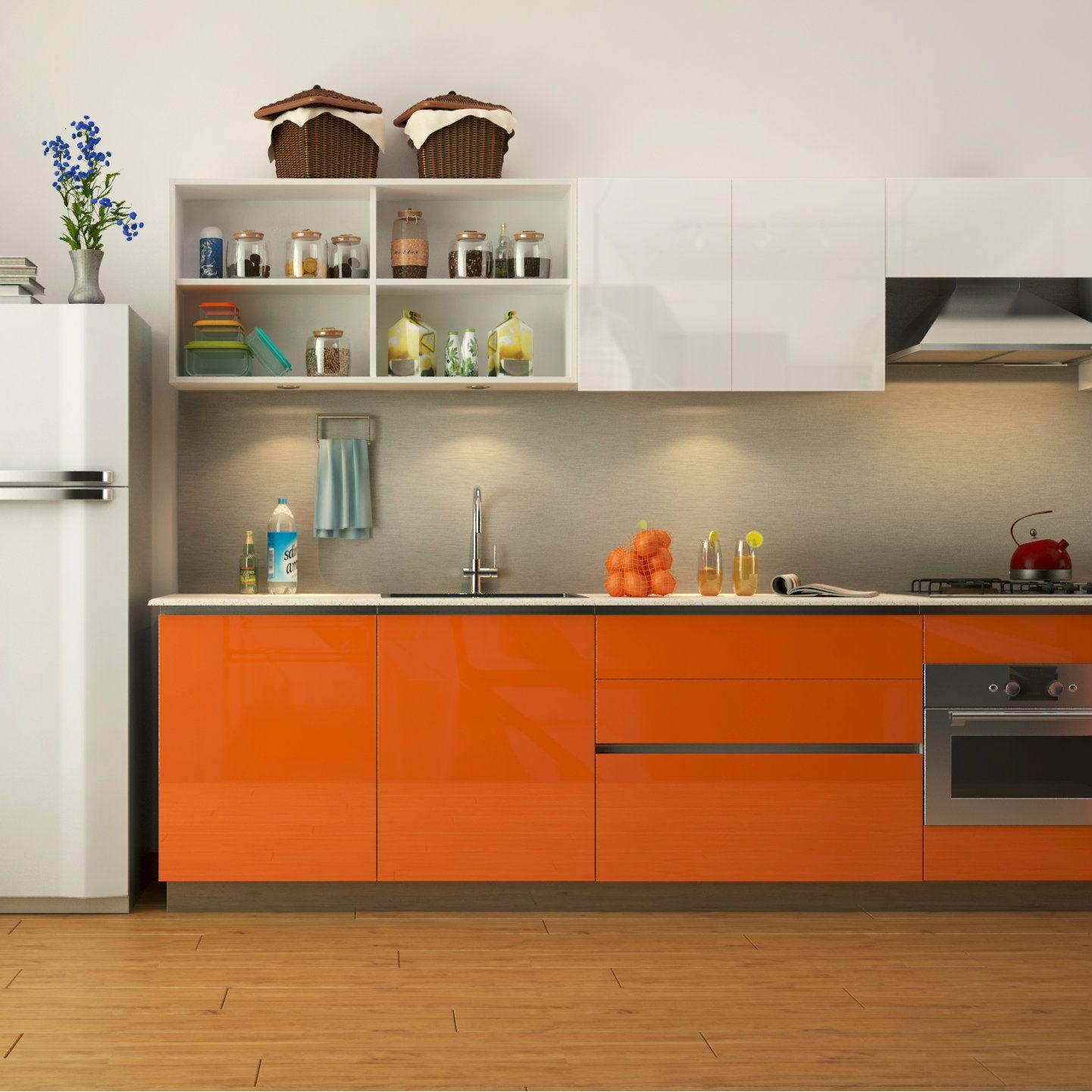 Straight Modular Kitchen That S Crisp And Charismatic Modern Kitchen Cabinets Kitchen Cabinets Kitchen Design