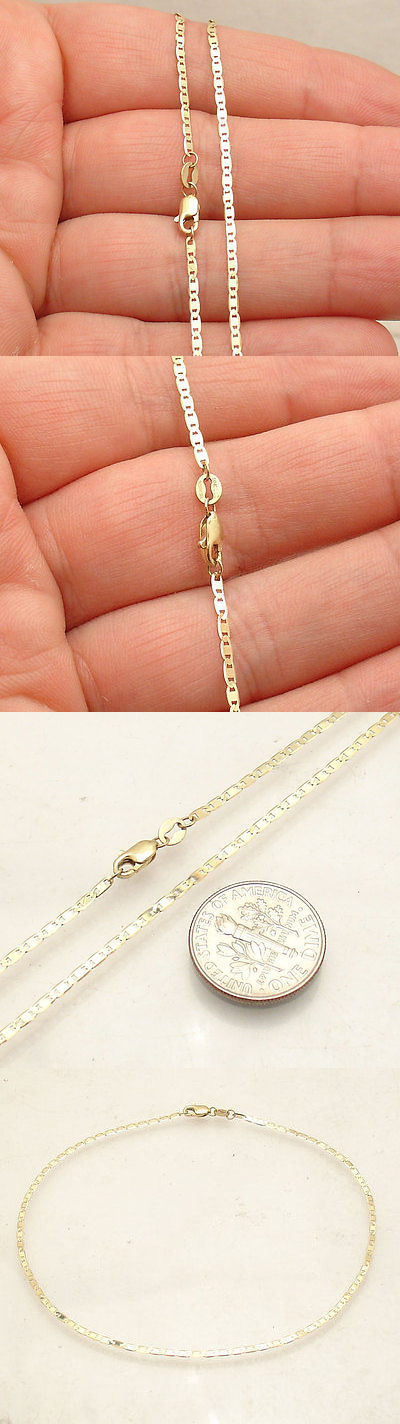 dp singapore com mm anklet jewelry chain yellow amazon ankle gold inches necklaces