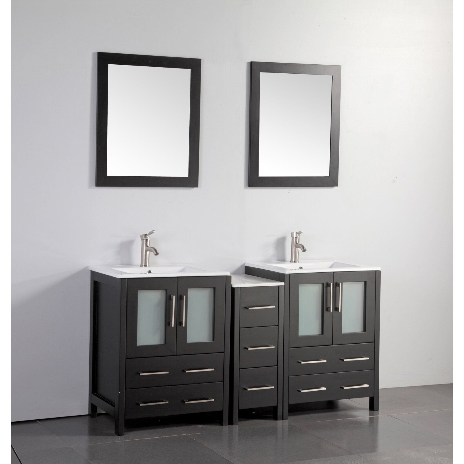 Karson 60 Double Bathroom Vanity Set With Mirror In 2019 Columns