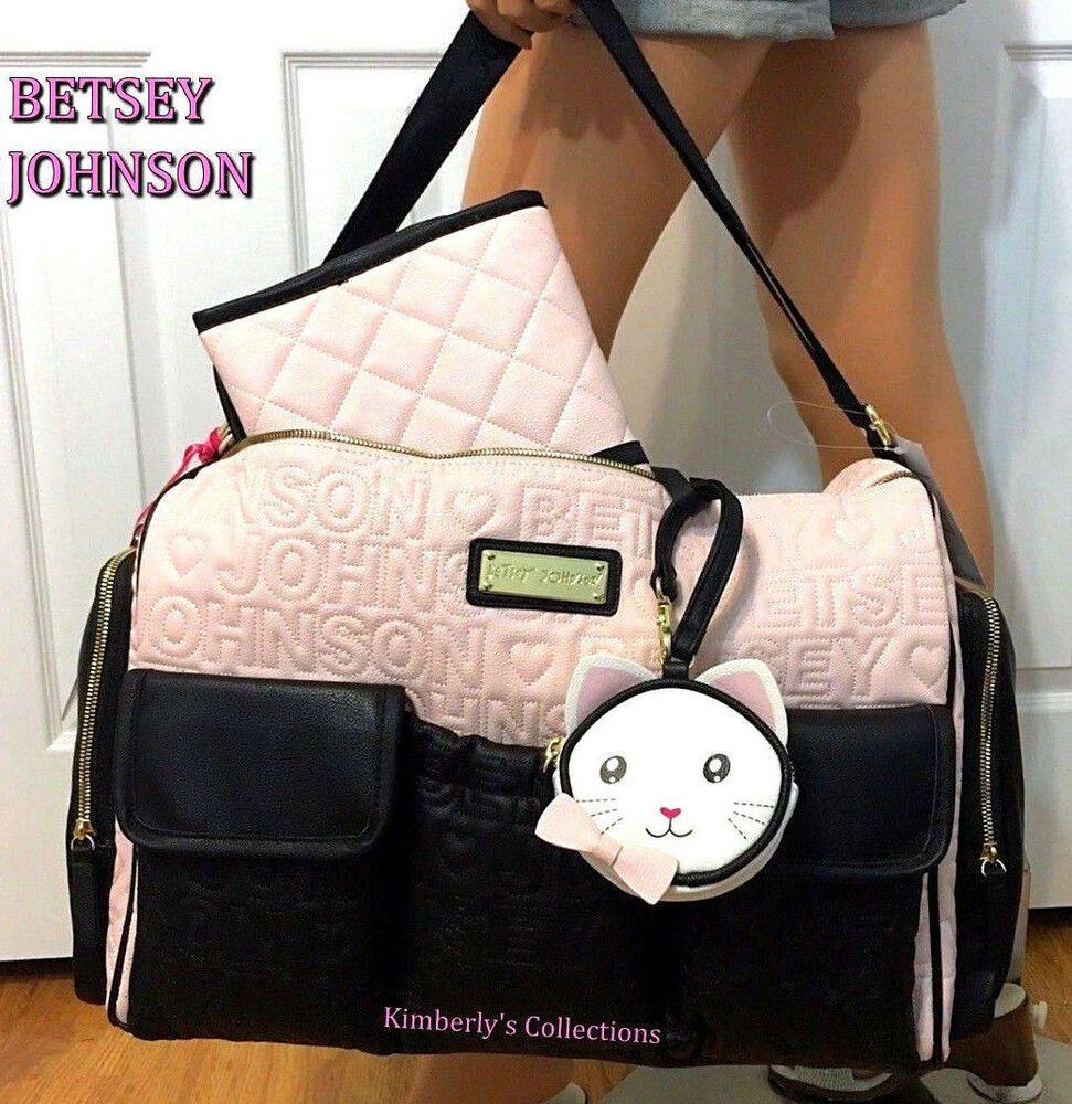 Betsey Johnson Baby Shower Diaper Bag
