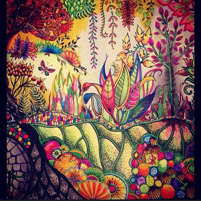 From Floral Wonders Color Art For Everyone Imgur Colorful Art Color Pencil Art Coloring Books
