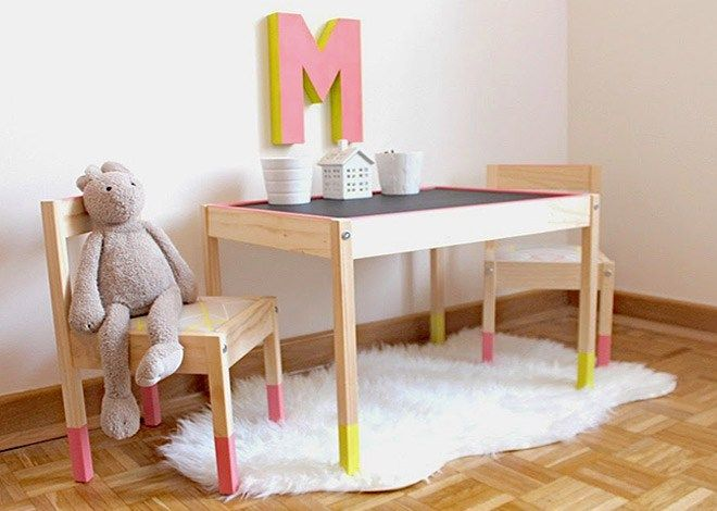 IKEA Hack: 9 ways to makeover the LATT children\'s table | Crafty ...