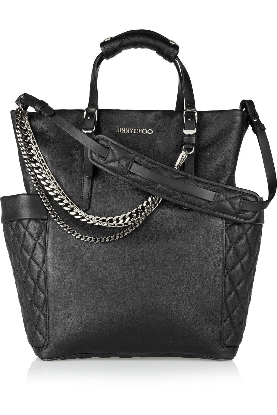 509d580df2 Blare chain-embellished leather tote. Jimmy Choo handbags