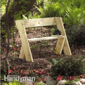 Build a Wooden Bench for Less: Build this solid, durable, inexpensive bench in a couple of hours. Build it with dad or surprise him with a new bench for #FathersDay. Get the plans: http://www.familyhandyman.com/woodworking/projects/build-a-wooden-bench-for-less/view-all
