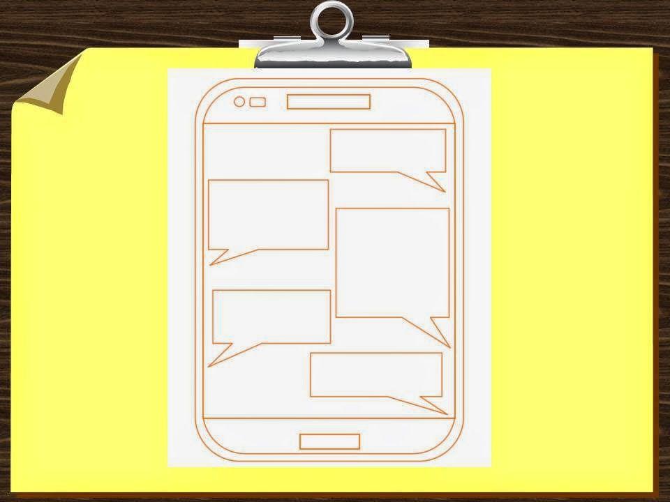 Fake Text Message Conversation Template Printable Lesson Idea ...