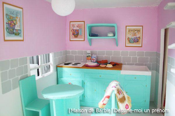 diy tutoriel pour fabriquer une maison de barbie - Barbie Cuisine