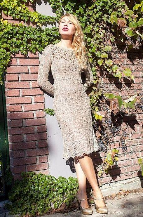 Схема вязаного вечернего платья фото 510