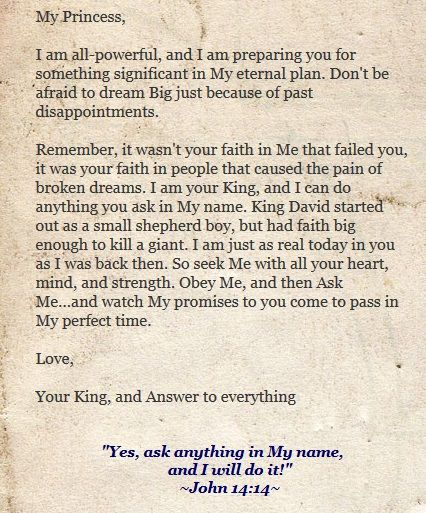 Love Letters Of To His Princess