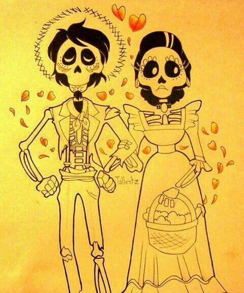 Hector E Imelda De Coco Pixar Disney Drawings Disney Stencils