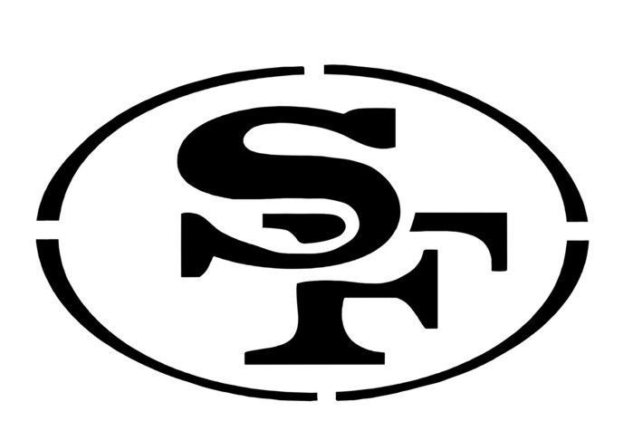 Nfl San Francisco 49ers Reuseable Stencil Forty Niners Stencil