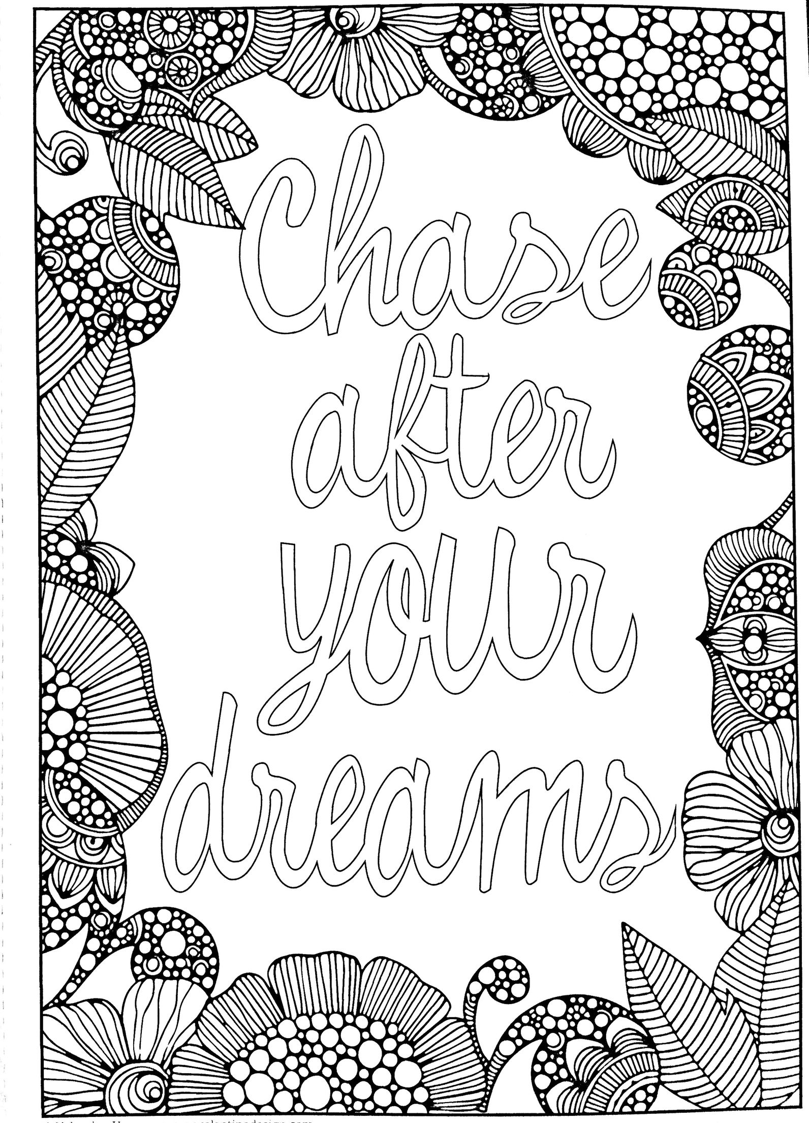Chase After Your Dreams Coloring Page