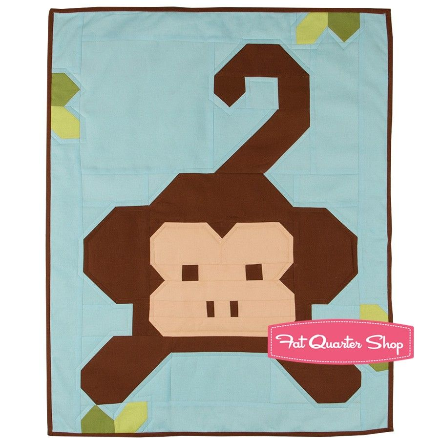Monkey Business Mini Quilt Kit Featuring Bella Solids by Moda Fabrics | Fat Quarter Shop