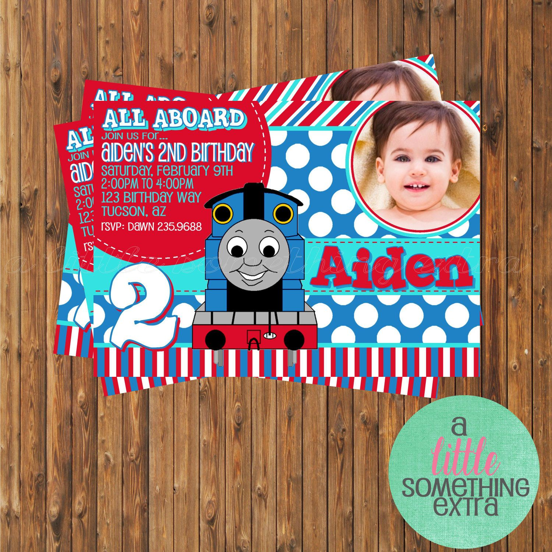 Thomas the Train Invitation- Thomas Birthday Invitation-Printable ...