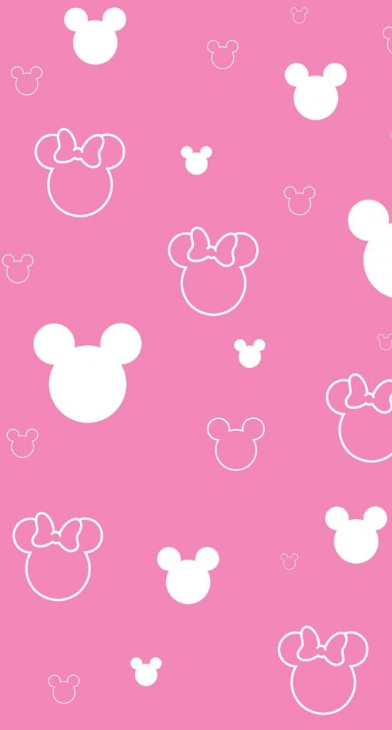 Mickey And Minnie Simple Pattern Wallpaper