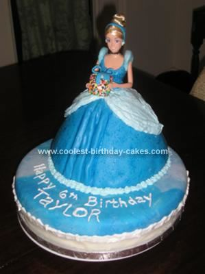 Coolest Homemade 2 Tiered Cinderella Doll Birthday Cake Birthday