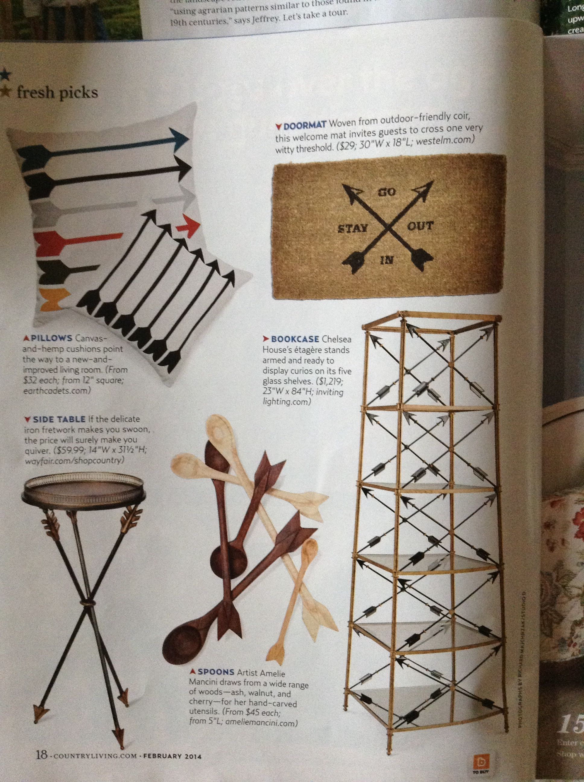 Arrows...country living February 2014