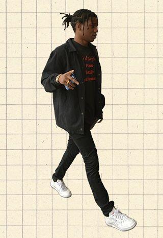 A$AP Rocky in Palace Coach Jacket, Midnight Studios T-shirt and Gosha