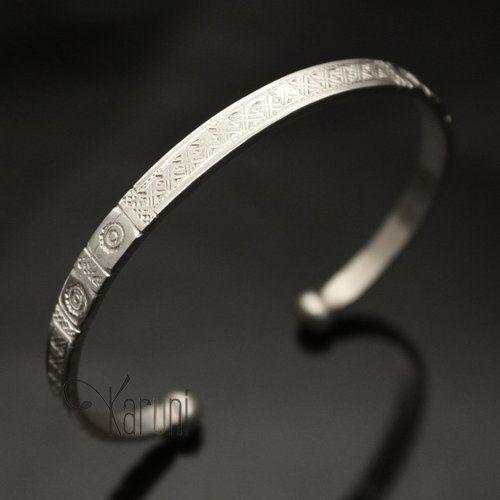 Bijoux Ethniques Touareg Africains Bracelet en Argent de Mauritanie  Homme/Femme 10