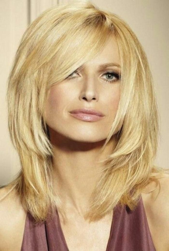 Frisuren Für Schulterlanges Haar Blond Stufig Frisuren Pinterest