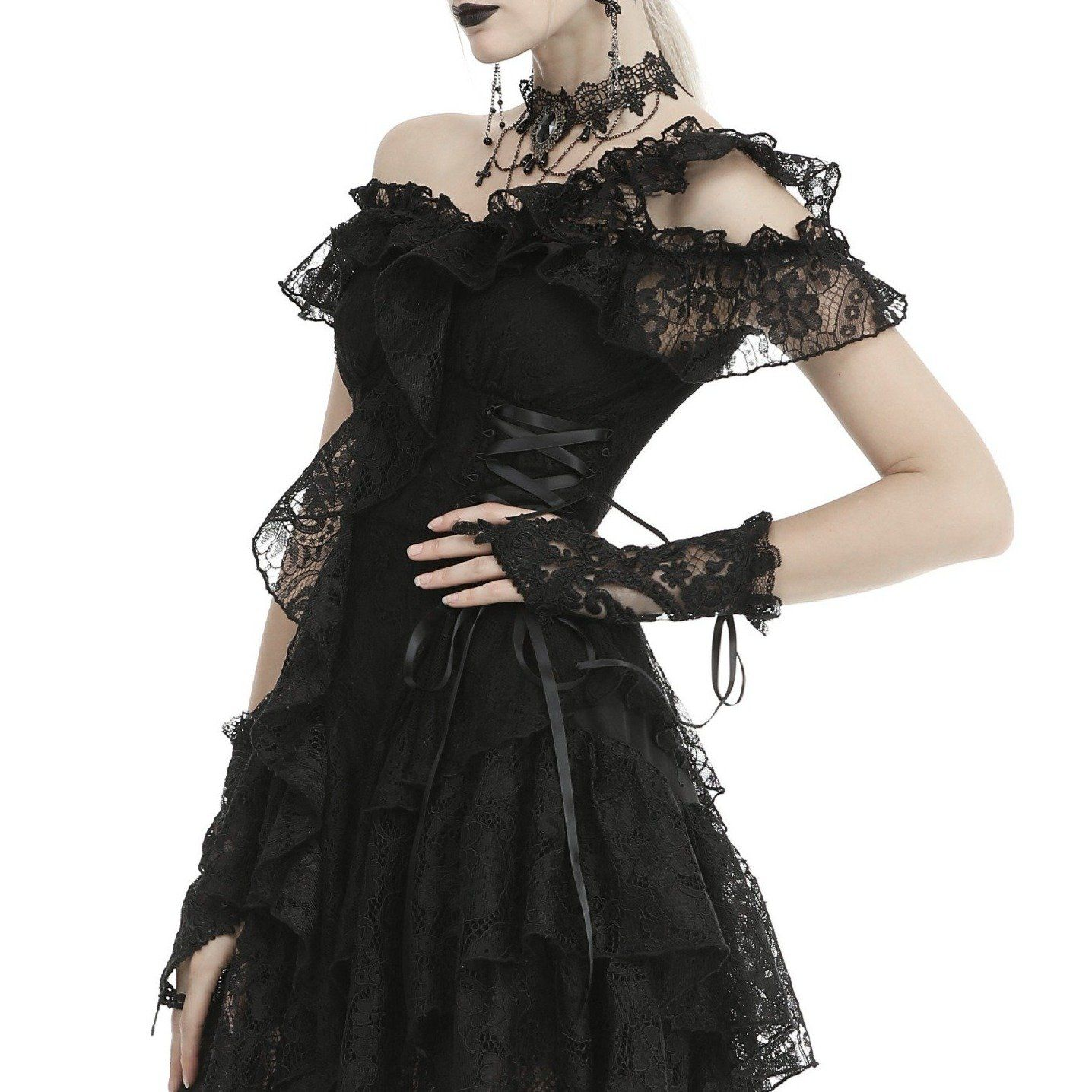 Nocturne Lace Gloves Victorian Goth Dress Lace Gloves Elegant Goth [ 1436 x 1436 Pixel ]