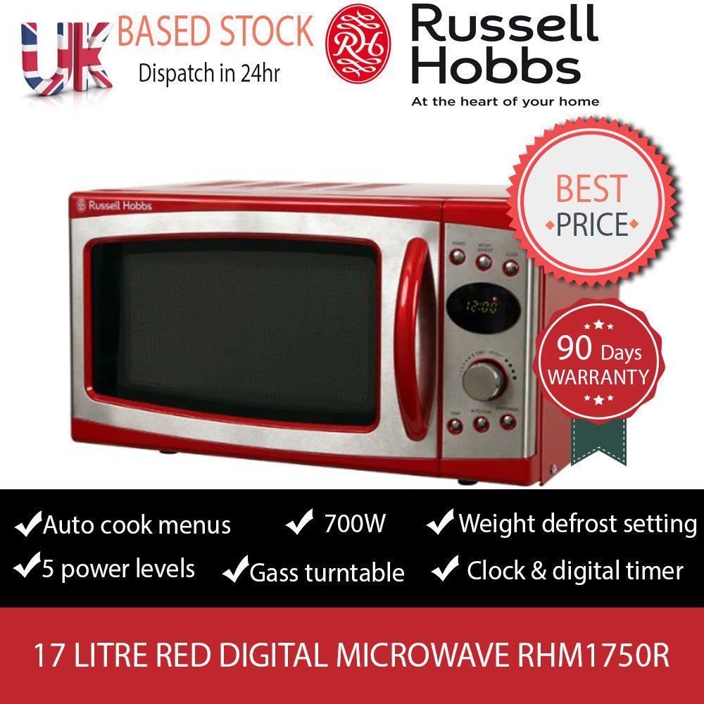 Russel Hobbs 17 Litre Red Digital Microwave Rhm1750r 90 Days Warranty