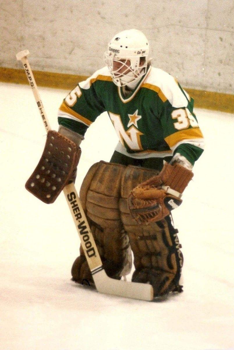 Mike Sands Minnesota north stars, Goalie, Nhl hockey