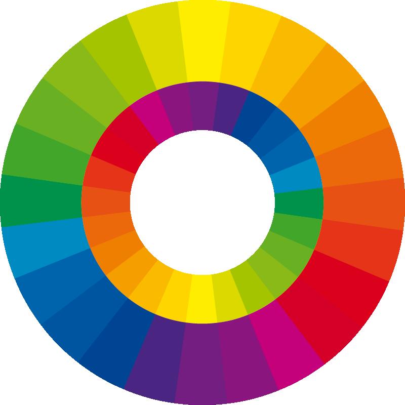 24 Teiliger Farbkreis (Wilhelm Ostwald) Mit Gegenfarben
