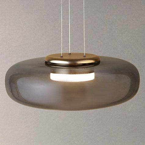 Buy design project by john lewis no 014 ufo led pendant ceiling light smoke online at johnlewis com