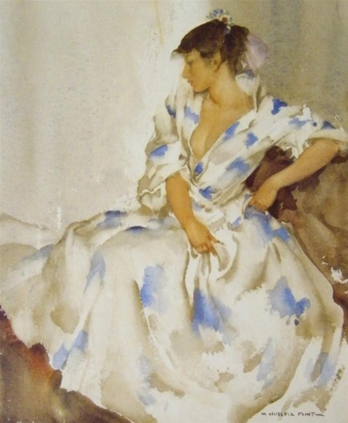 Terisitas Flowery Robe Sir William Russell Flint William